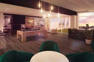 lounge avec billard